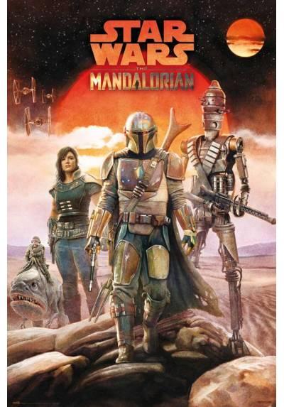 Poster Star Wars: The Mandaloriam - Tripulacion (POSTER 61 x 91,5)
