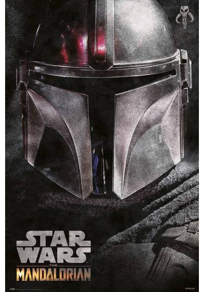 Poster Star Wars: The Mandaloriam - Casco (POSTER 61 x 91,5)