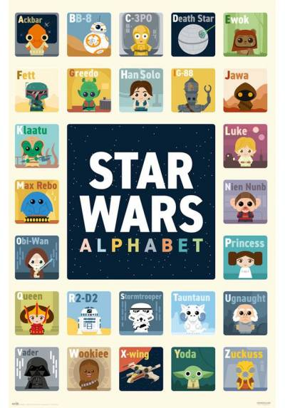 Poster Star wars: Alfabeto (Alphabet) (POSTER 61 x 91,5)
