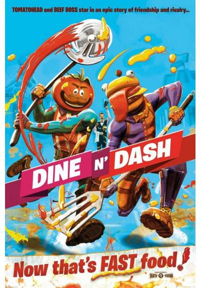 Poster Fortnite: Comer y Listo (Dine and Cash) (POSTER 61 x 91,5)