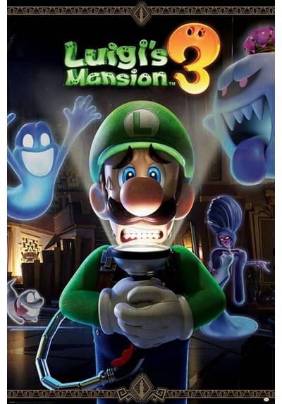 Poster Nintendo Luigi´s 3: La mansion Shinigami (Te espera un susto) (You are on For a Fright) (POSTER 61 x 91,5)