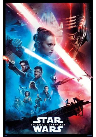 Poster Star Wars: Episodio IX - El Ascenso de Skywalker (Marco Negro) (POSTER 61 x 91,5)