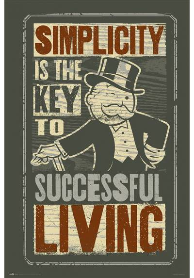 Poster Monopoly - Simplicity (POSTER 61 x 91,5)