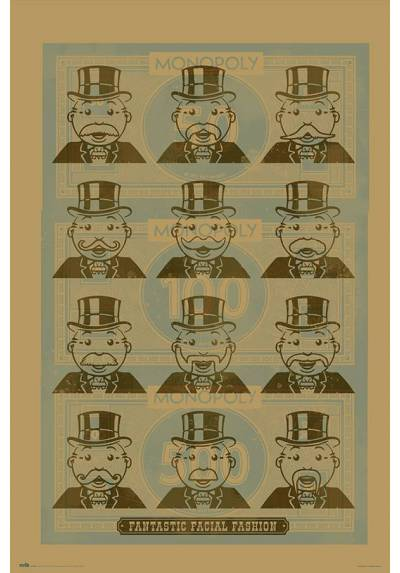 Poster Monopoly - Moda Facial (POSTER 61 x 91,5)