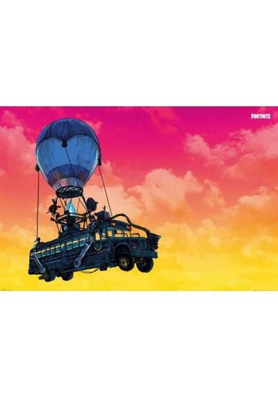 Poster Horizontal Fortnite: Autobus de Batalla  (POSTER 91,5 x 61)