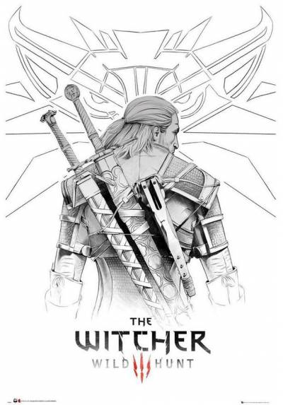 Poster The Witcher - Geralt Sketch (POSTER 61 x 91,5)
