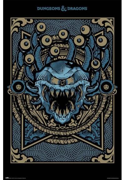 Poster Dragones y Mazmorras - Manual del Moustruo (POSTER 61 x 91,5)