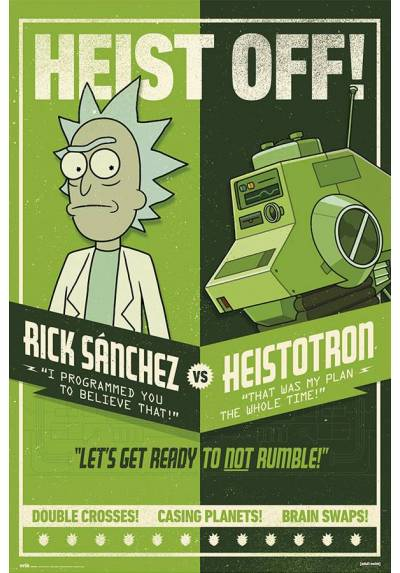 Poster Rick y Morty - Atraco (POSTER 61 x 91,5)