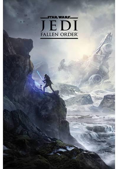 Poster Star Wars - Paisaje de la Caida del Jedi (POSTER 61 x 91,5)