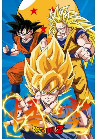 Poster Dragon Ball Z 3 - Gokus Evo (POSTER 61 x 91,5)