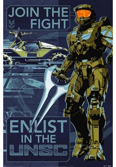 Poster Unete a la Pelea - Halo Infinite (POSTER 61 x 91,5)