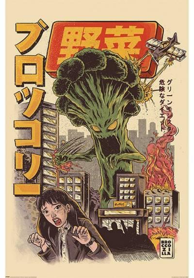 Poster Broccozilla - Ilustrata (POSTER 61 x 91,5)