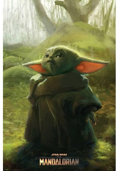 Poster Star wars - The Mandalorian - Baby Yoda (POSTER 61 x 91,5)