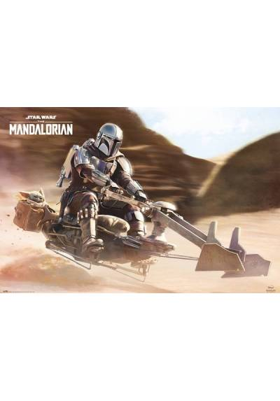 Poster Horizontal Star wars - The Mandalorian - Bicicleta Spider (POSTER 91,5 x 61)