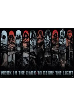 Poster Assassins Creed - Trabaja en La Oscuridad (POSTER 91,5 x 61)
