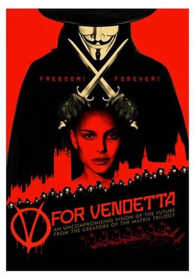 V de Vendetta - Freedom Forever (POSTER 32x45)