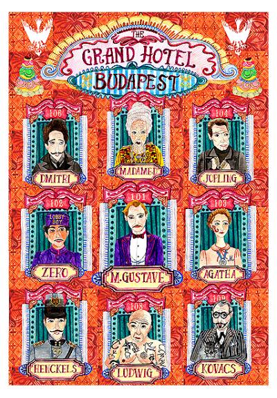 El Gran Hotel Budapest - Personajes (POSTER 32x45)