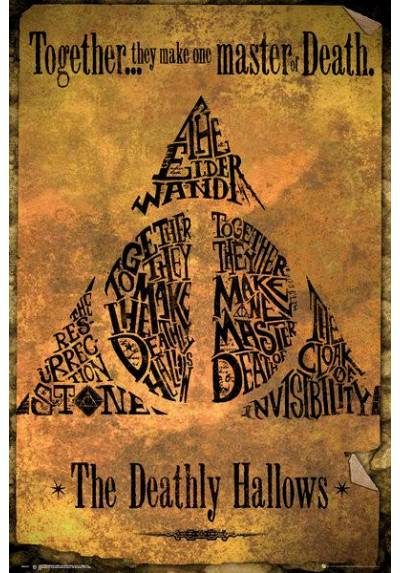 Poster Harry Potter - Oro de las Reliquias de la Muerte (Deathly Hallows Gold) (POSTER 61 x 91,5)