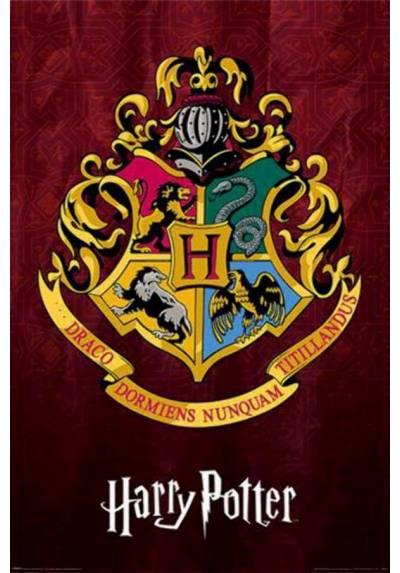Poster Harry Potter - Escudo de la escuela Hogwarts (POSTER 61 x 91,5)