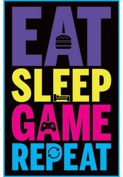 Poster Gaming - Eat, Sleep, Game, Repeat (POSTER 61 x 91,5)
