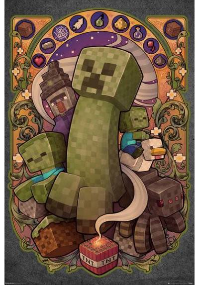 Poster Minecraft - Creeper (POSTER 61 x 91,5)