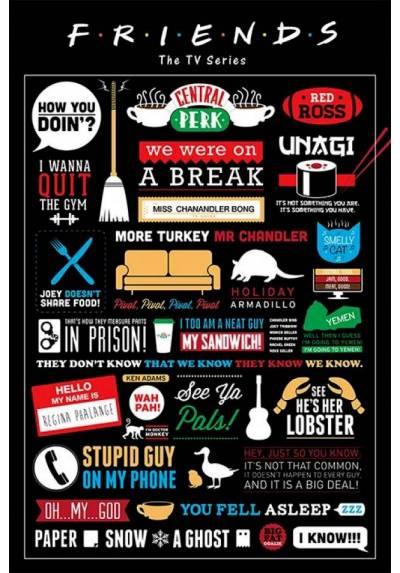 Poster Friends - Infografia (POSTER 61 x 91,5)