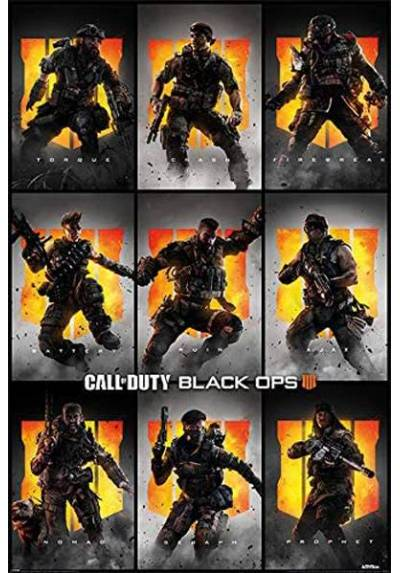 Poster Call of Duty: Black Ops 4 - Personajes (POSTER 61 x 91,5)