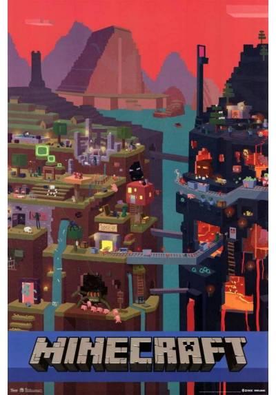 Poster Minecraft - Mundo  (POSTER 61 x 91,5)