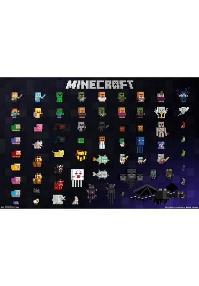 Minecraft - Sprites de píxeles (POSTER 91,5 x 61)