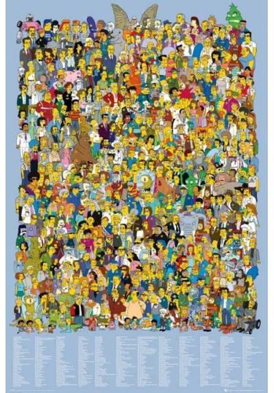 Poster Los Simpson - Elenco 2012 (POSTER 61 x 91,5)