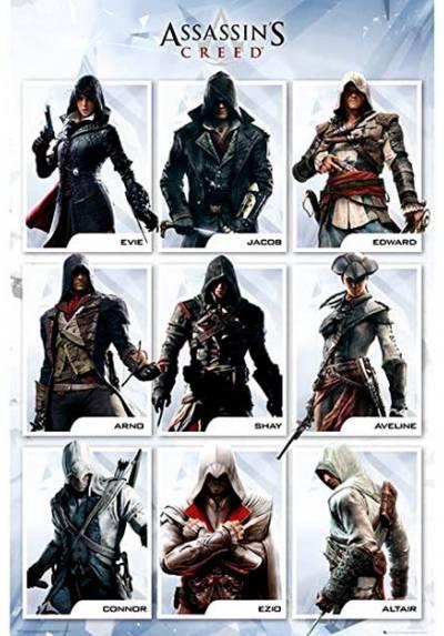 Poster Assassin's Creed - Recopilacion (POSTER 61 x 91,5)