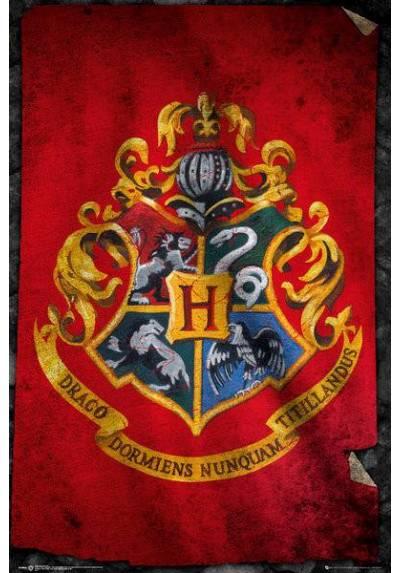Poster Harry Potter - Escudo de la escuela Hogwarts Roja (POSTER 61 x 91,5)