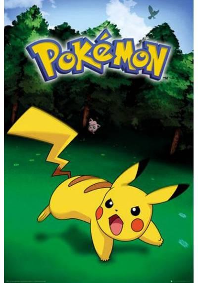 Poster Pokemon - Pikachu Hierba (POSTER 61 x 91,5)
