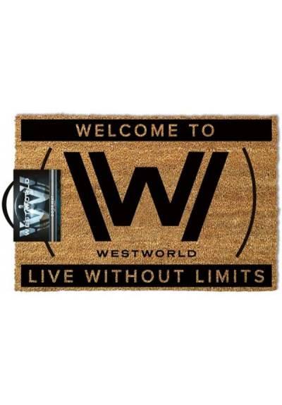Felpudo Westworld - Live Without Limits (Vivir sin límites)  (40 X 60 X 2)