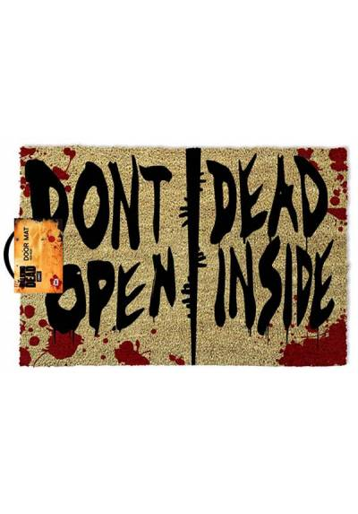 Felpudo The Walking Dead - Don´t dead open inside (No abras por dentro) (40 X 60 X 2)