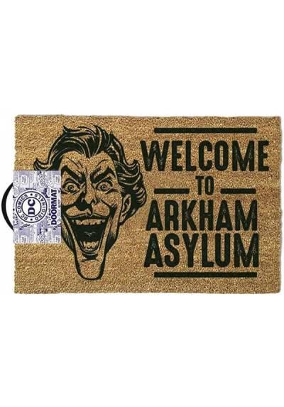 Felpudo Joker - Welcome to Arkham Asylum (Bienvenido al manicomio Arkham) (40 X 60 X 2)