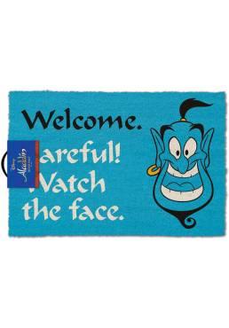 Felpudo Genio Aladin - Welcome Careful! Watch the face (Bienvenidos Cuidado! Mira la cara) (40 X 60 X 2)