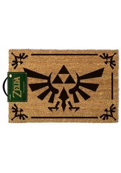 Felpudo The Legend of Zelda - Triforce Black  (La Leyenda de Zelda: Trifuerza Negra) (40 X 60 X 2)