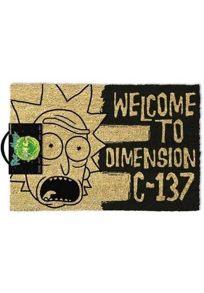 Felpudo Rick and Morty - Welcome to dimension C-137 (Rick y Morty: Bienvenido a la dimensión C-137) (40 X 60 X 2)