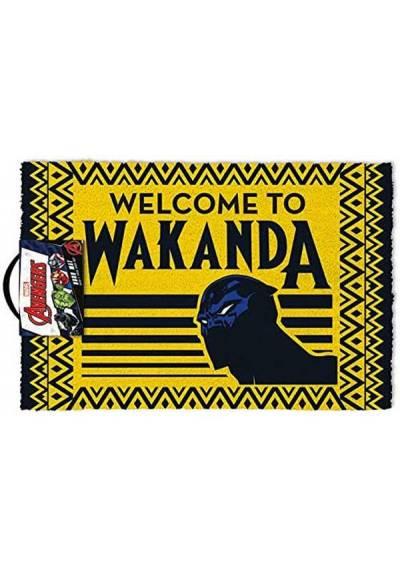 Felpudo Black Panther - Welcome to Wakanda (Pantera negra: Bienvenido a Wakanda (40 X 60 X 2)