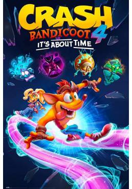Poster Crash Bandicoot 4 - Ya es Hora (POSTER 61 x 91,5)