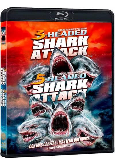 Pack 2-Headed Shark Attack - 5-Headed Shark Attack (Blu-ray)