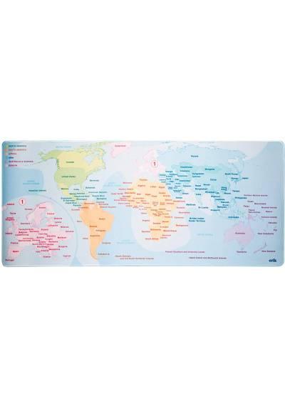 Alfombrilla Raton XXL - Mapa del Mundo (80cm x 35 cm x 4 mm)