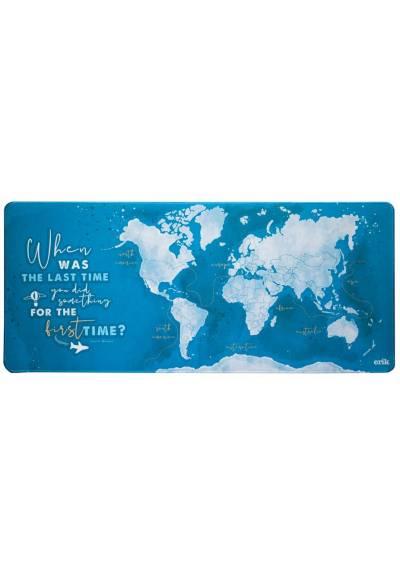 Alfombrilla Raton XXL - Mapa del Mundo 2 (80cm x 35 cm x 4 mm)
