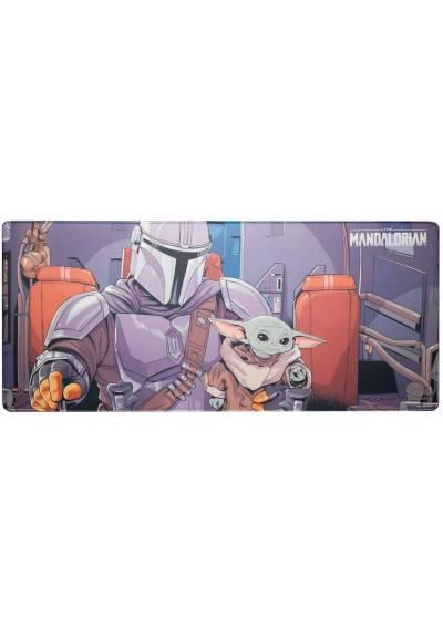 Alfombrilla Raton XXL - Star Wars: The Mandalorian (80cm x 35 cm x 4 mm)