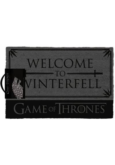 Felpudo Juego de Tronos - Bienvenido a Winterfell (40 X 60 X 2)