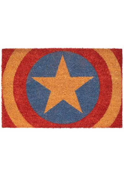 Felpudo Escudo Marvel - Capitan America (40 X 60 X 2)