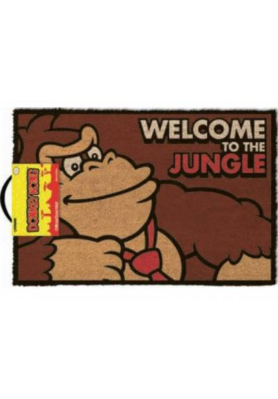Felpudo Donkey Kong - Bienvenido A La Selva (40 X 60 X 2)