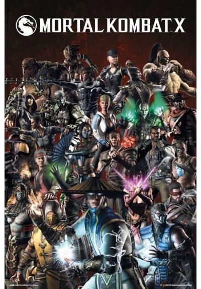 Poster Mortal Kombat - Personajes (POSTER 61 x 91,5)