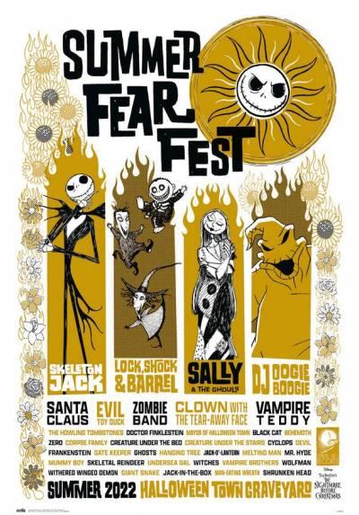 Poster Disney - Pesadilla Antes De Navidad (Fiesta Del Miedo De Verano) (POSTER 61 x 91,5)